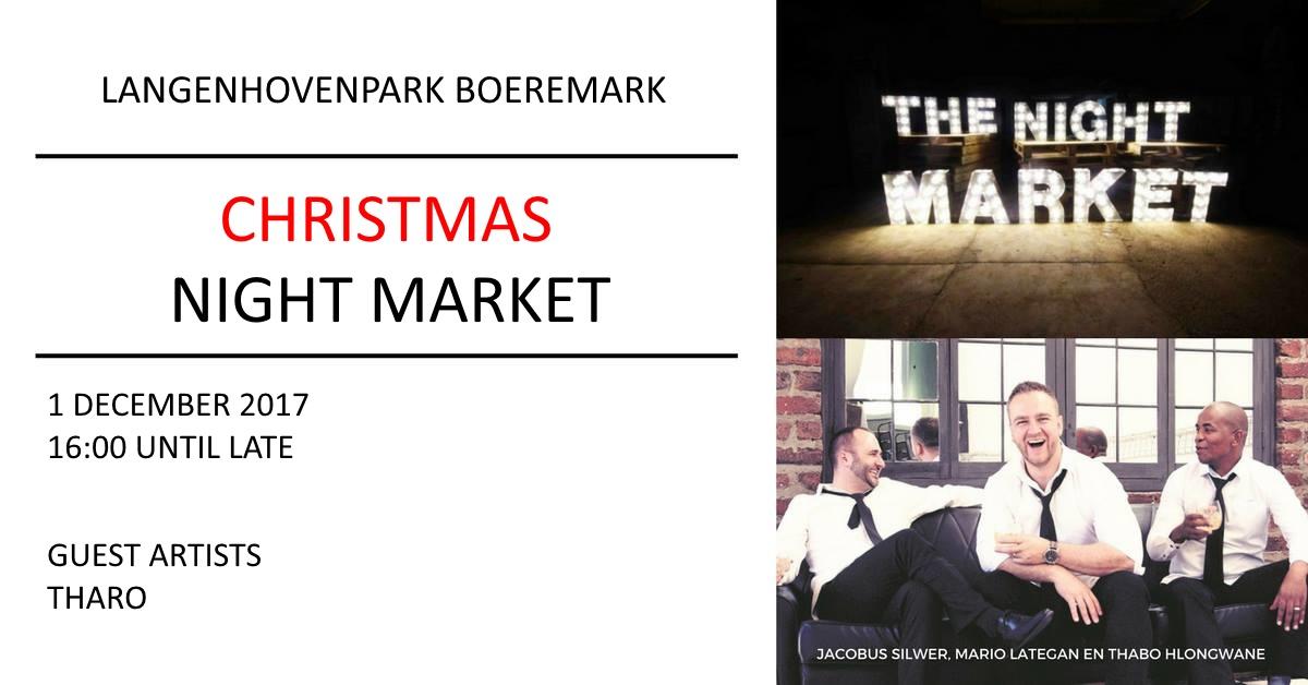 Langenhovenpark Boeremark Christmas Night Market / Kersaandmark
