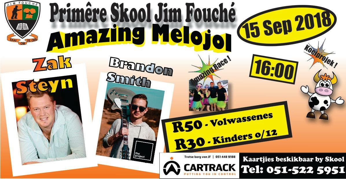 Amazing Melojol: Live music event at Jim Fouché Primary School