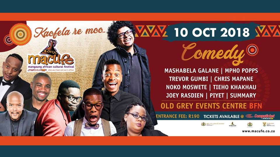 Macufe Comedy 2018